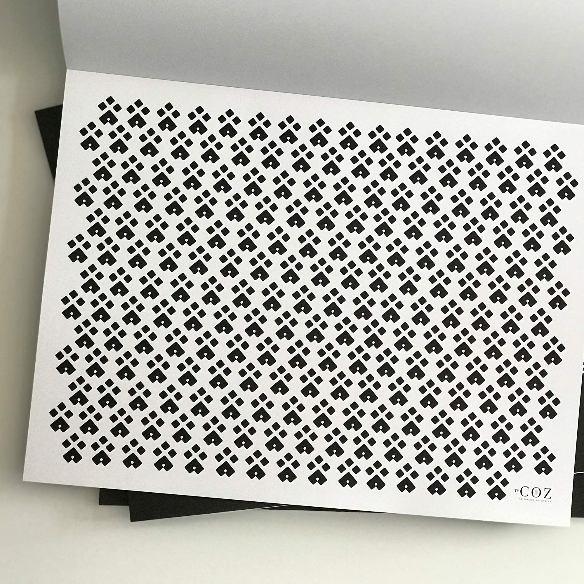 sets de table en papier ty coz linge de maison pr t porter curiosit s bretagne. Black Bedroom Furniture Sets. Home Design Ideas